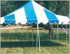 DIY Blue and White Party Canopy