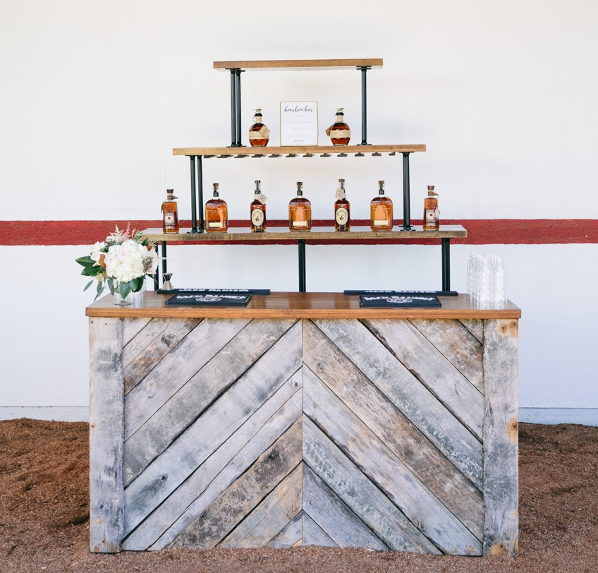 All Occasions Event Rental - Barnwood bar table