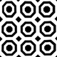 Black/White Velvet Octagon Small