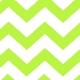 Lime Green Chevron Runner