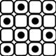 Black/White Tile Square