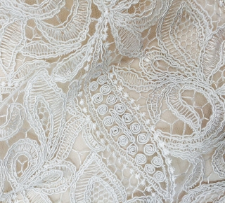 Gallery image for Victorian Lace Ivory Runner