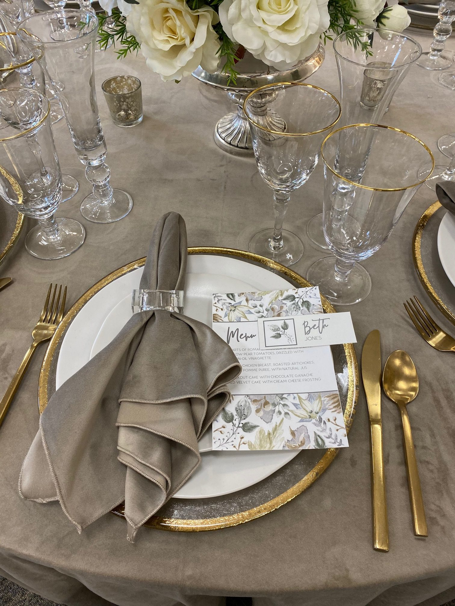Gallery image for Brushed Gold – Arezzo